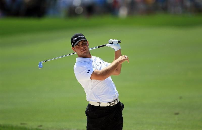 ORLANDO, FL - MARCH 24:  Gary Woodland of the USA plays his second shot at the 1st hole during the first round of the 2011 Arnold Palmer Invitational presented by Mastercard at the Bay Hill Lodge and Country Club on March 24, 2011 in Orlando, Florida.  (Photo by David Cannon/Getty Images)