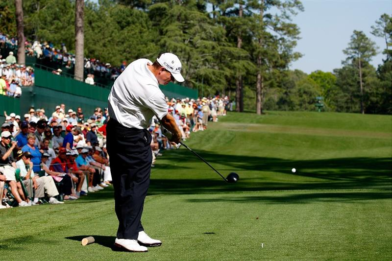 AUGUSTA, GA - APRIL 09:  Chad Campbell hits his tee shot on the 14th hole during the first round of the 2009 Masters Tournament at Augusta National Golf Club on April 9, 2009 in Augusta, Georgia.  (Photo by Jamie Squire/Getty Images)