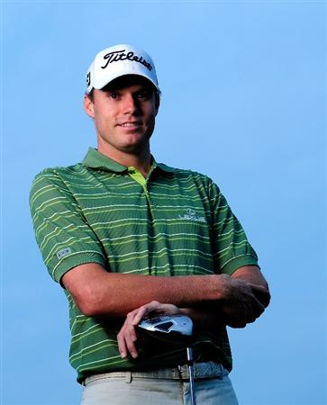AKRON, OH - AUGUST 05:  Nick Watney poses for a portrait prior to the WGC-Bridgestone Invitational on the South Course at Firestone Country Club on August 5, 2009 in Akron, Ohio.  (Photo by Sam Greenwood/Getty Images)