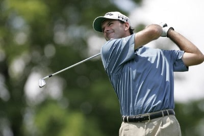 Len Mattiace during the third round of the Cialis Western Open on the No. 4 Dubsdread course at Cog Hill Golf and Country Club in Lemont, Illinois on July 8, 2006.Photo by Michael Cohen/WireImage.com