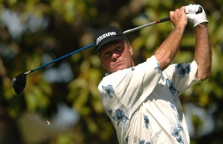 Keith Fergus tees off on the sixth hole during the second round of the Champions' Tour 2005 Toshiba Senior Classic at  the Newport Beach Country Club in Newport Beach, California March 20, 2005.