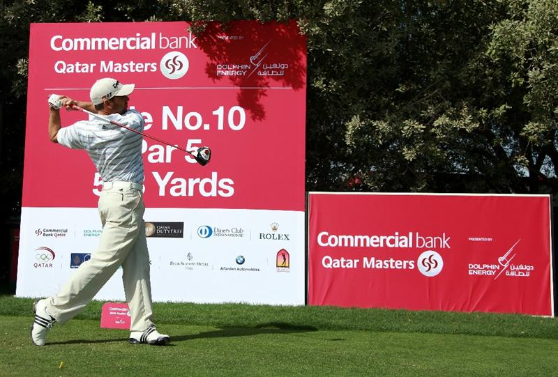 DOHA, QATAR - FEBRUARY 02:  Sergio Garcia of Spain in action during the Pro Am prior to start of the Commercialbank Qatar Masters held at Doha Golf Club on February 2, 2011 in Doha, Qatar.  (Photo by Andrew Redington/Getty Images)