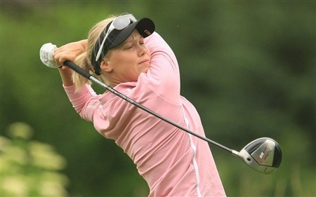 EDINA, MN - JUNE 27:  Minea Blomqvist of Finland watches her tee shot on the 13th hole during the second round of the 2008 U.S. Women's Open at Interlachen Country Club on June 27, 2008 in Edina, Minnesota.  (Photo by Scott Halleran/Getty Images)