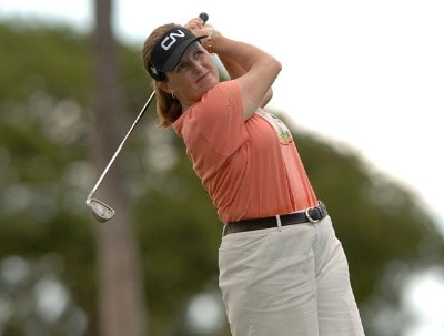 Lorie Kane in action during the first round of the inaugural 2006 Fields Open in Hawaii at Ko Olina Golf Club in Kapolei, Hawaii February 22, 2006.Photo by Steve Grayson/WireImage.com