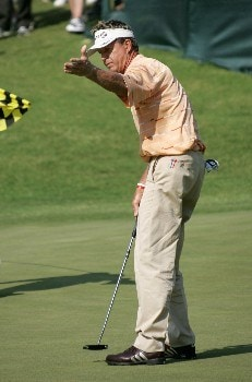 Dana Quigley at the 9th green during the second round of the Bruno's Memorial Classic, May 21,2005, held at Greystone GC, Birmingham, Al.  D.A. Weibring shot a second round 12 under par.Photo by Stan Badz/PGA TOUR/WireImage.com