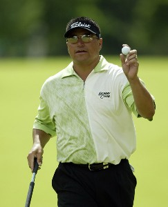 Robert Gamez competes in the fourth and final round of the Memorial Tournament Presented by Morgan Stanley at Muirfield Village Golf Club in Dublin, OH, on June 4, 2006.Photo by Hunter Martin/WireImage.com