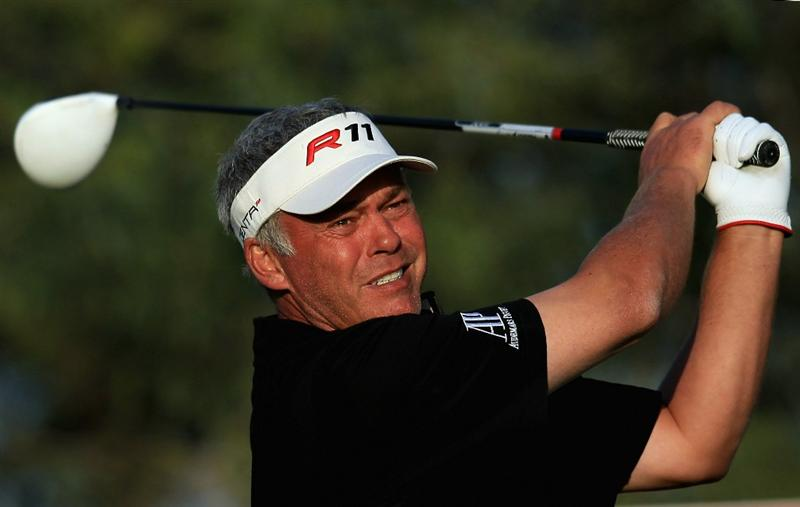 DOHA, QATAR - FEBRUARY 03:  Darren Clarke of Northern Ireland in action during the first round of the Commercialbank Qatar Masters held at Doha Golf Club on February 3, 2011 in Doha, Qatar.  (Photo by Andrew Redington/Getty Images)