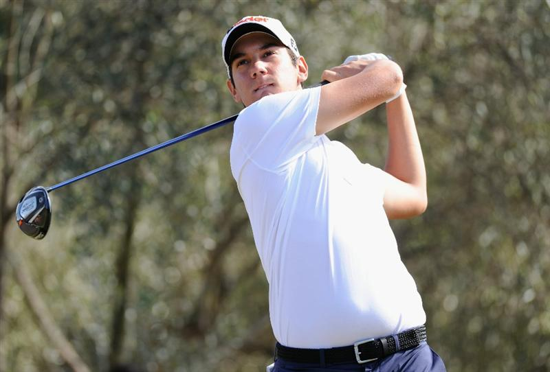 CASTELLON DE LA PLANA, SPAIN - OCTOBER 23:  Matteo Manassero of Italy plays his tee shot on the third hole during the third round of the Castello Masters Costa Azahar at the Club de Campo del Mediterraneo on October 23, 2010 in Castellon de la Plana, Spain.  (Photo by Stuart Franklin/Getty Images)
