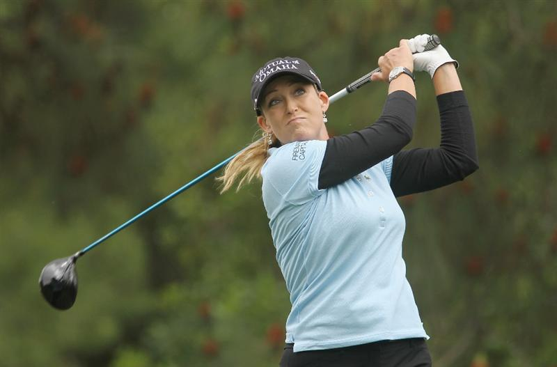 CITY OF INDUSTRY, CA - MARCH 27:  Cristie Kerr hits her tee shot on the ninth hole during the final round of the Kia Classic on March 27, 2011 at the Industry Hills Golf Club in the City of Industry, California.  (Photo by Scott Halleran/Getty Images)