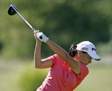 SPRINGFIELD, IL - SEPTEMBER 1: Sherri Steinhauer hits her tee shot on the 3rd hole during the third round of the State Farm Classic at Panther Creek Country Club on September 1, 2007 in Springfield, Illinois. (Photo by Hunter Martin/Getty Images)