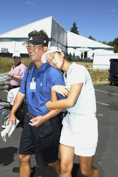Michelle Wie and father B.J.