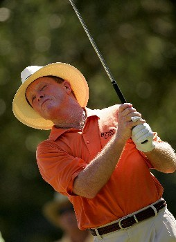 SAN ANTONIO - OCTOBER 20:  Tom Kite hits a shot on the ninth hole during the second round of the AT&T Championship at Oak Hills Country Club October 20, 2007 in San Antonio, Texas.  (Photo by S.Greenwood/Getty Images)