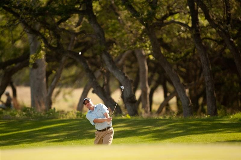 SAN ANTONIO, TX - APRIL 15: Troy Matteson follows through on a pitch shot during the second round of the Valero Texas Open at the AT&T Oaks Course at TPC San Antonio on April 15, 2011 in San Antonio, Texas. (Photo by Darren Carroll/Getty Images)