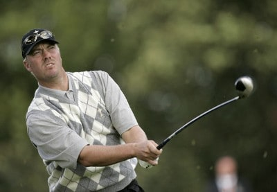 Brett Wetterich of the USA during the first round matches at the 2006 Ryder Cup held at the K Club, Straffan, County Kildare, Ireland on Friday, September 22, 2006. Photo by Sam Greenwood/WireImage.com
