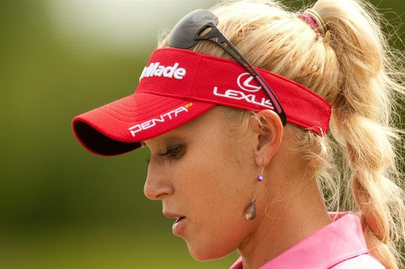 SPRINGFIELD, IL - JUNE 10: Natalie Gulbis waits on the tee during the first round of the LPGA State Farm Classic at Panther Creek Country Club on June 10, 2010 in Springfield, Illinois. (Photo by Darren Carroll/Getty Images)
