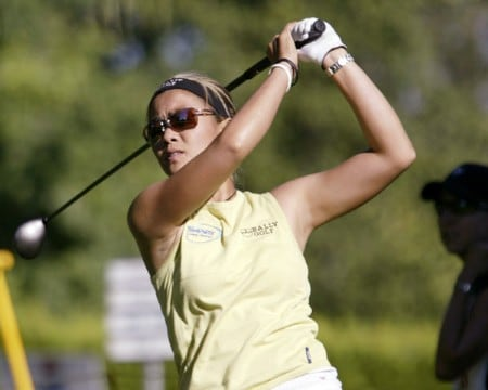 Jennifer Rosales during the first round of the 2005 Safeway Classic at Columbia Edgewater Country Club, on Friday,  August 18, 2005.Photo by Allan Campbell/WireImage.com