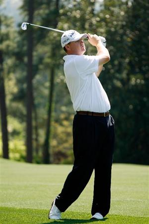 AUGUSTA, GA - APRIL 09:  Chad Campbell hits his third shot on the eighth hole during the first round of the 2009 Masters Tournament at Augusta National Golf Club on April 9, 2009 in Augusta, Georgia.  (Photo by Jamie Squire/Getty Images)
