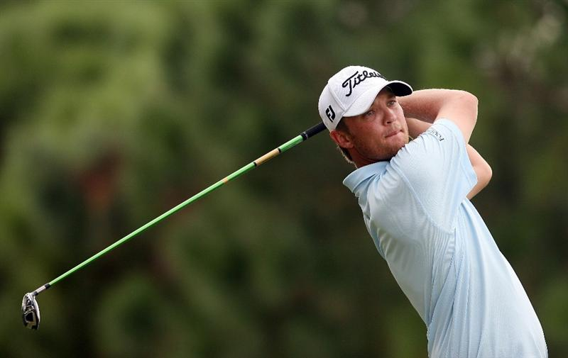 WEST PALM BEACH, FL - DECEMBER 07:  Matt Jones of Australia hits a tee shot during the final round of the 2009 PGA TOUR Qualifying Tournament at Bear Lakes Country Club on December 7, 2009 in West Palm Beach, Florida.  (Photo by Doug Benc/Getty Images)