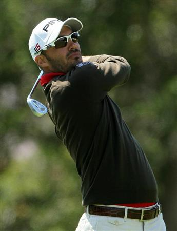 PEBBLE BEACH, CA - JUNE 19:  Gregory Havret of France watches a shot on the first hole during the third round of the 110th U.S. Open at Pebble Beach Golf Links on June 19, 2010 in Pebble Beach, California.  (Photo by Jeff Gross/Getty Images)