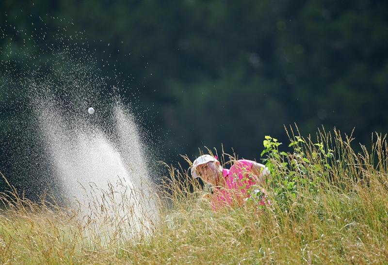 GALLOWAY, NJ - JUNE 19:  Alexis Thompson plays from a bunker during the second round of the ShopRite LPGA Classic held at Dolce Seaview Resort (Bay Course) on June 18, 2010 in Galloway, New Jersey.  (Photo by Michael Cohen/Getty Images)