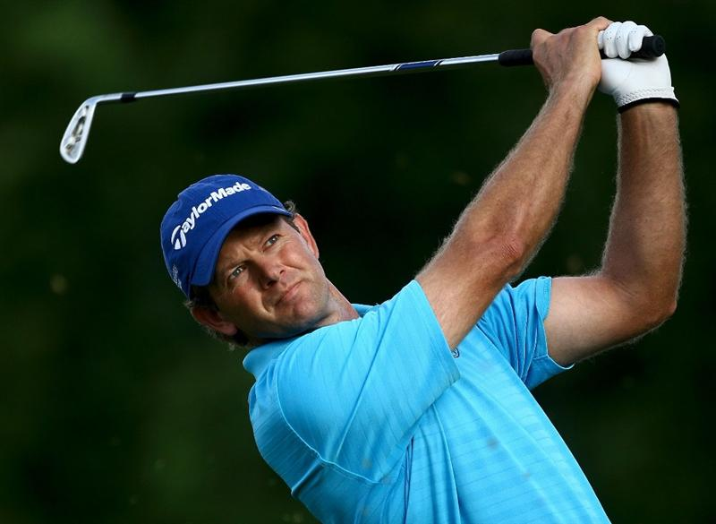 OAKVILLE, ONTARIO - JULY 23: Retief Goosen of South Africa plays from the fourth tee during round one of the RBC Canadian Open at Glen Abbey Golf Club on July 23, 2009 in Oakville, Ontario, Canada.  (Photo by Chris McGrath/Getty Images)
