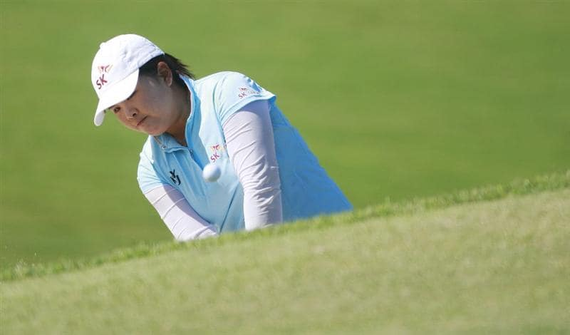 PRATTVILLE, AL - OCTOBER 2:  Inbee Park of South Korea hits from the sand on the 10th hole during second round play in the Navistar LPGA Classic at the Robert Trent Jones Golf Trail at Capitol Hill on October 2, 2009 in  Prattville, Alabama.  (Photo by Dave Martin/Getty Images)