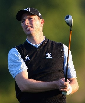 ABU DHABI, UNITED ARAB EMIRATES - JANUARY 17:  Soren Hansen of Denmark hits his second shot on the tenth hole during the first round of The Abu Dhabi Golf Championship at Abu Dhabi Golf Club on January 17, 2008 in Abu Dhabi.  (Photo by Andrew Redington/Getty Images)