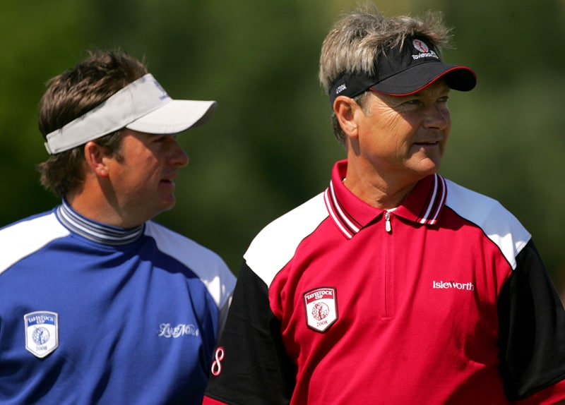 Graeme McDowell and John Cook at the 2008 Tavistock Cup