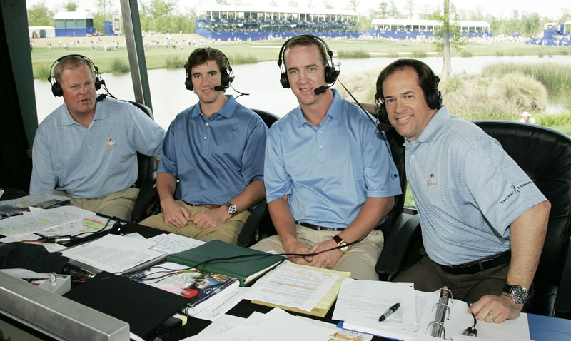 Johnny Miller, Eli Manning, Peyton Manning and Dan Hicks
