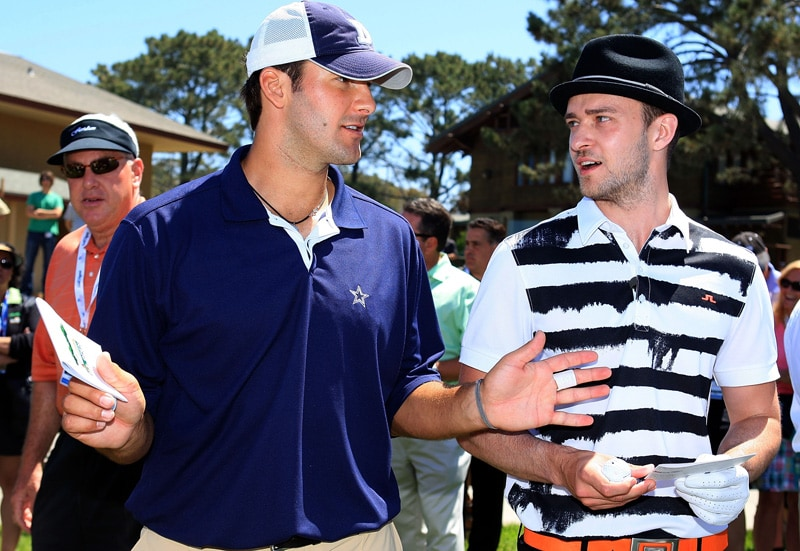 Tony Romo and Justin Timberlake