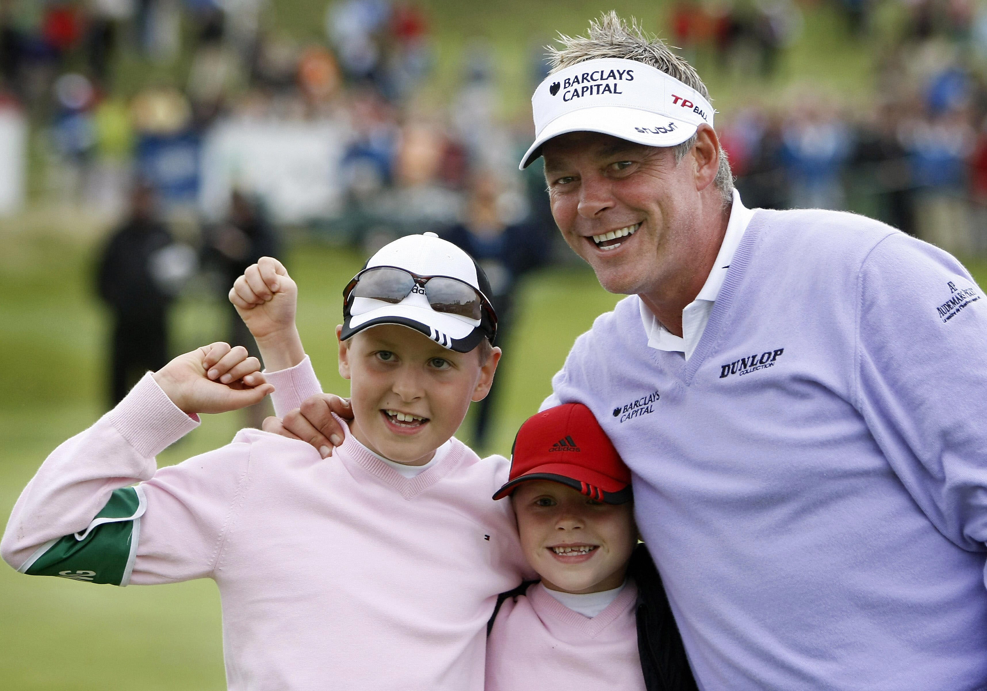 Darren Clarke with sons Conor and Tyrone in 2008