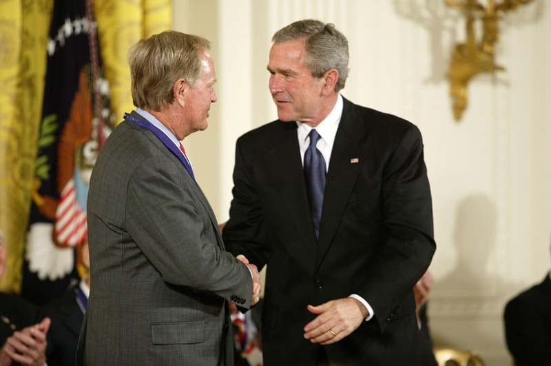 Jack Nicklaus and President George W. Bush