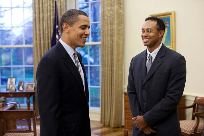 President Barack Obama and Tiger Woods