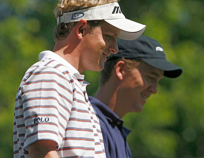 Peyton Manning and Luke Donald