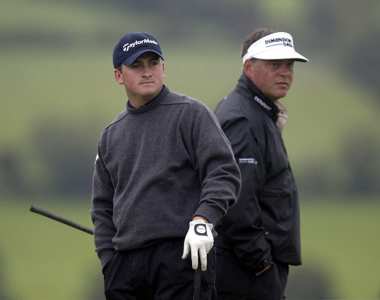 Graeme McDowell and Darren Clarke at the 2002 Irish Open
