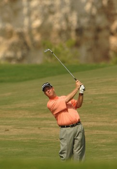 Glen Day hits from the seventh fairway during the first round of the 2005 Valero Texas Open at La Cantera in at La Cantera Country Club in San Antonio, Texas September 22, 2005.Photo by Steve Grayson/WireImage.com
