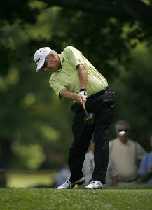 Jay Sigel during the final round of the 2007 Commerce Bank Championship being held at the Red Course at Eisenhower Park in East Meadow, NY on July 1, 2007. Photo by Mike Ehrmann/WireImage.com