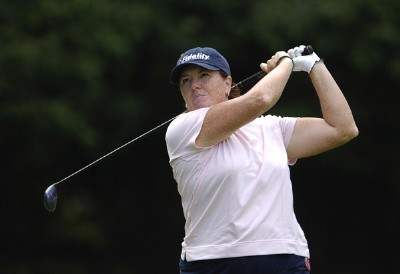 Meg Mallon during the first round of the Jamie Farr Owens Corning Classic at Highland Meadows Golf Club in Sylvania, Ohio, on July 13, 2006.Photo by Steve Levin/WireImage.com