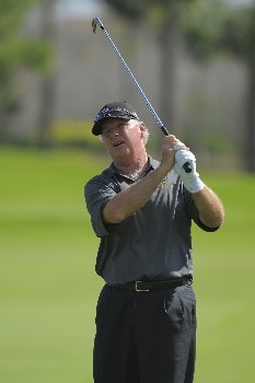 NAPLES, FL - FEBRUARY 16: Tom Jenkins hits his second shot on the 16th hole during the second round of the ACE Group Classic at Quail West on February 16, 2008 in Naples, Florida. (Photo by Scott A. Miller/Getty Images)