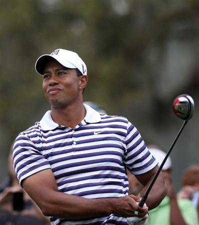 ORLANDO, FL - MARCH 23:  Tiger Woods plays a shot during the pro-am round prior to the Arnold Palmer Invitational presented by MasterCard at the Bay Hill Club and Lodge on March 23, 2011 in Orlando, Florida.  (Photo by Sam Greenwood/Getty Images)
