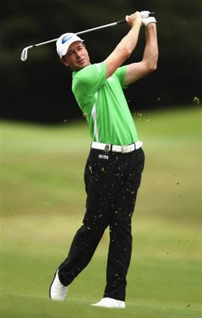 SYDNEY, AUSTRALIA - DECEMBER 13:  Brett Rumford of Australia plays an approach shot on the 10th hole during the third round of the 2008 Australian Open at The Royal Sydney Golf Club on December 13, 2008 in Sydney, Australia.  (Photo by Brendon Thorne/Getty Images)