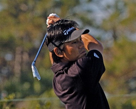 Hidemichi Tanaka  competes  in  second  round competition at the 2005 Honda Classic March 11, 2005 in Palm Beach Gardens, Florida.