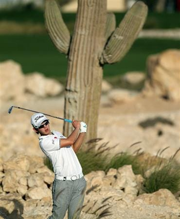 DOHA, QATAR - FEBRUARY 04:  Seung-yul Noh of Korea during the second round of the Commercialbank Qatar Masters at the Doha Golf Club on February 4, 2011 in Doha, Qatar.  (Photo by Ross Kinnaird/Getty Images)