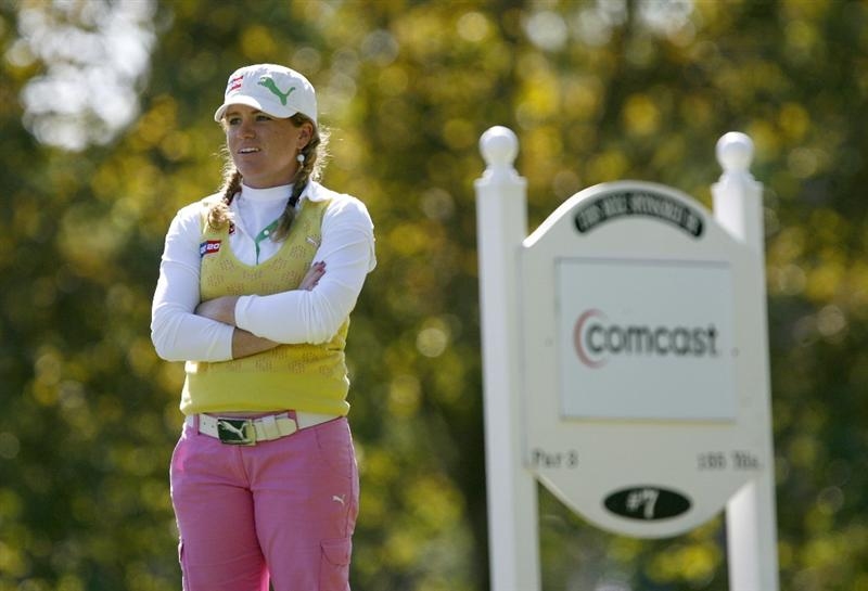 DANVILLE, CA - OCTOBER 11: Mikaela Parmlid of Sweden looks down the 7th hole during the third round of the LPGA Longs Drugs Challenge at the Blackhawk Country Club October 11, 2008 in Danville, California. (Photo by Max Morse/Getty Images)