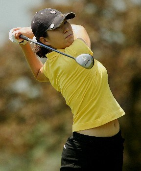 CORNING, NY - MAY 24:  Shi Hyun Ahn of South Korea hits her tee shot on the ninth hole during the first round of the Corning Classic at the Corning Country Club on May 24, 2007 in Corning, New York.  (Photo by Kyle Auclair/Getty Images)