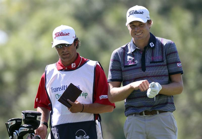PALM HARBOR, FL - MARCH 17:  Nick Watney plays a shot on the 8th hole during the first round of the Transitions Championship at Innisbrook Resort and Golf Club on March 17, 2011 in Palm Harbor, Florida.  (Photo by Sam Greenwood/Getty Images)