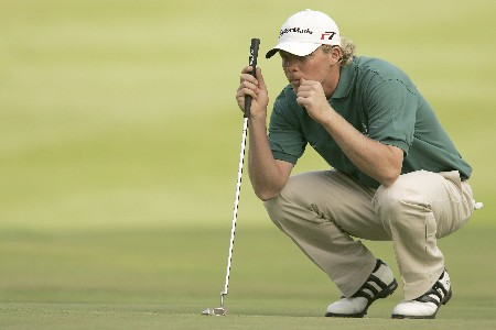 Mattias Eliasson during the second round of the 2005 KLM Open at Hilversumsche Golf Club in the Netherlands on June 10, 2005.Photo by Pete Fontaine/WireImage.com