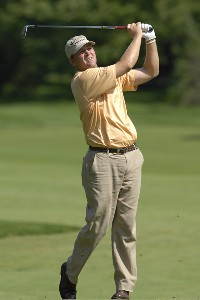 Jason Bohn during the second round of the U.S. Bank Championship in Milwaukee at Brown Deer Park Golf Course in Milwaukee, Wisconsin, on July 28, 2006.Photo by Steve Levin/WireImage.com
