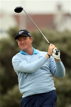 SOUTHPORT, UNITED KINGDOM - JULY 18:  Ernie Els of South Africa tees off on the 2nd during the second round of the 137th Open Championship on July 18, 2008 at Royal Birkdale Golf Club, Southport, England.  (Photo by Ross Kinnaird/Getty Images)