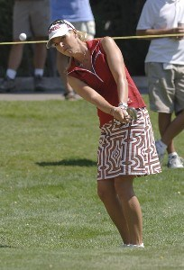 Carin Koch chips into the second green during the final round of the Safeway Classic at Columbia-Edgewater Country Club in Portland, Oregon on August 20, 2006.Photo by Al Messerschmidt/WireImage.com